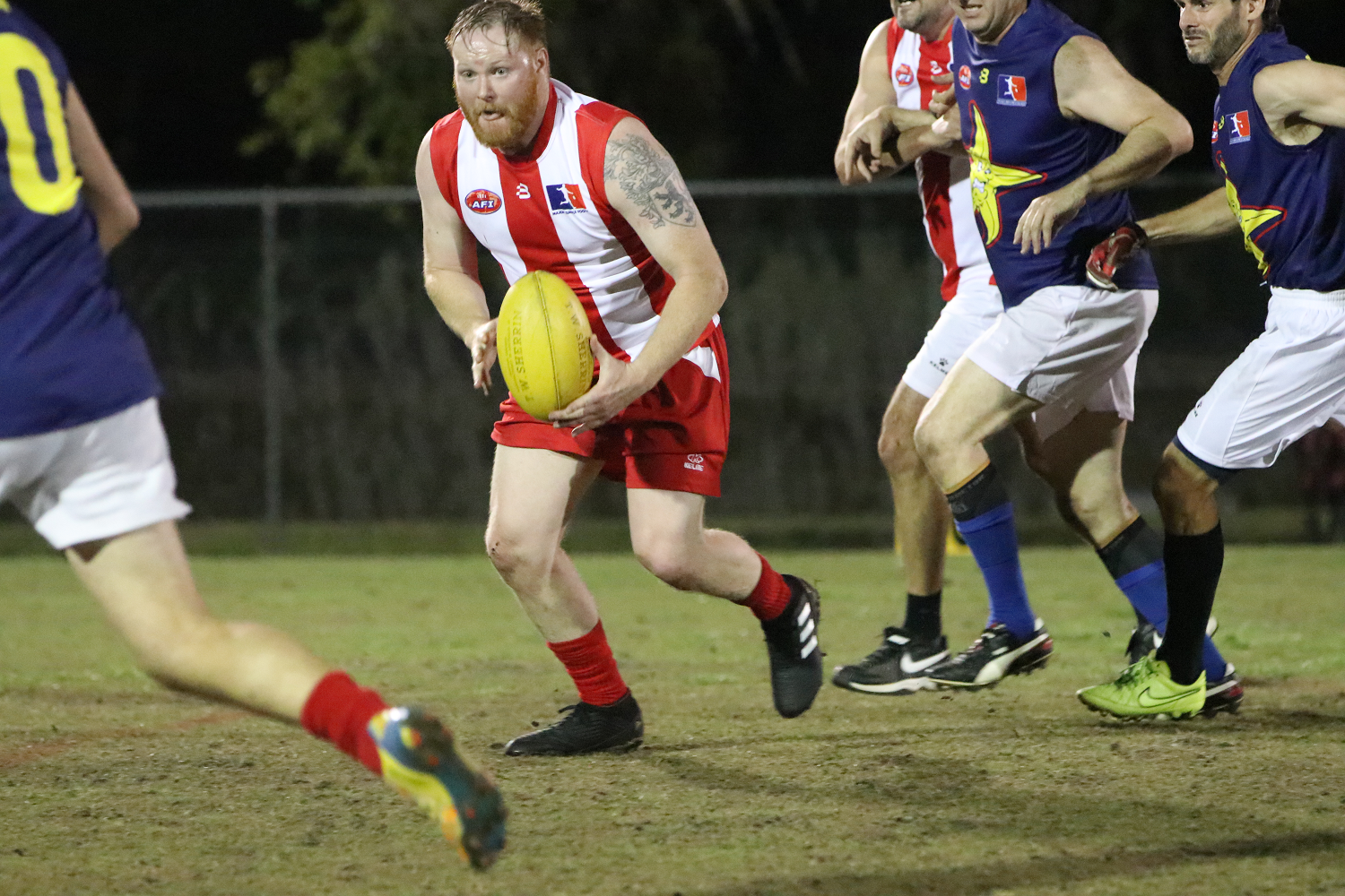 Footy 9s action